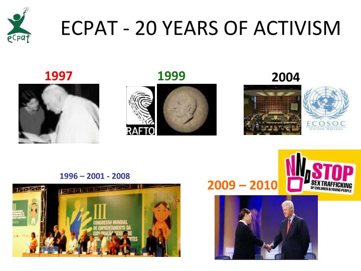 ECPAT - 20 YEARS OF ACTIVISM