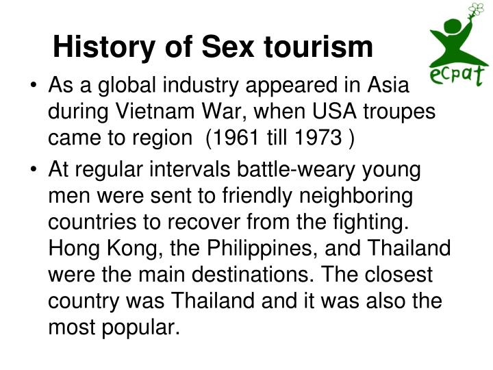 History of Sex tourism