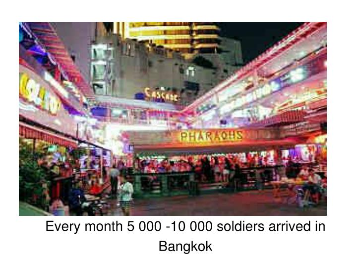 Every month 5 000 -10 000 soldiers arrived in