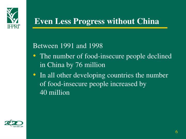 Even Less Progress without China