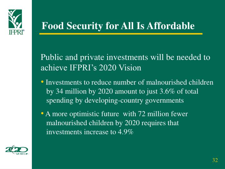 Food Security for All Is Affordable