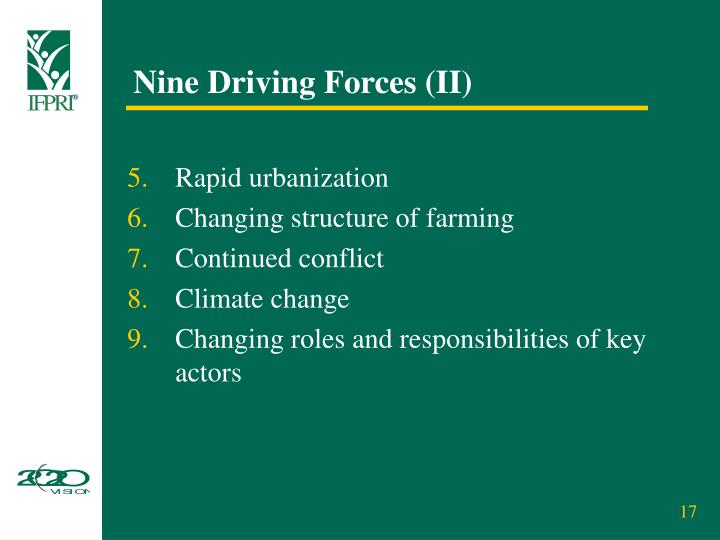 Nine Driving Forces (II)