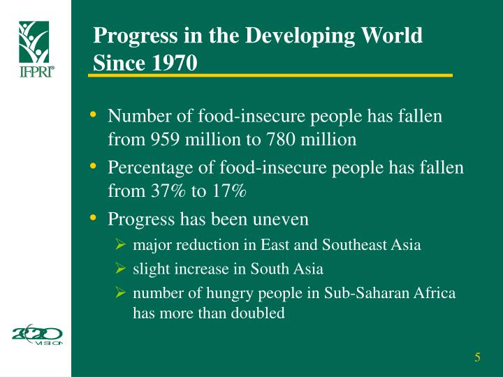 Progress in the Developing World Since 1970