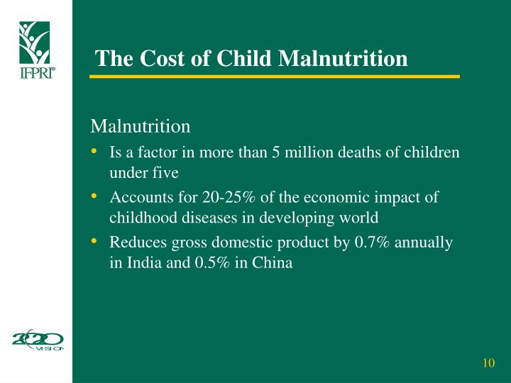 The Cost of Child Malnutrition