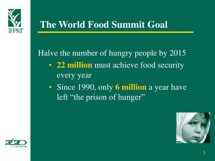 The World Food Summit Goal