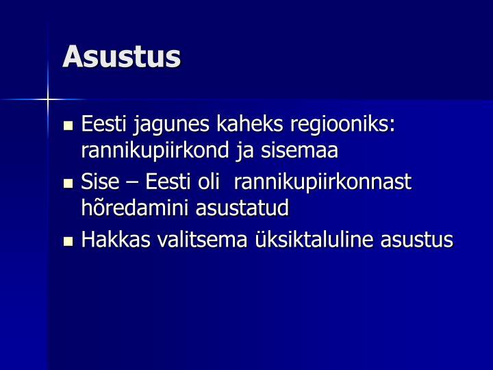 Asustus