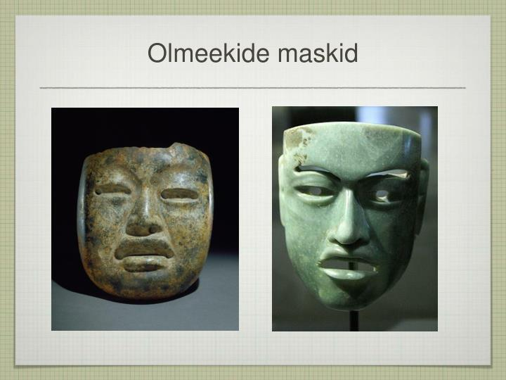 Olmeekide maskid