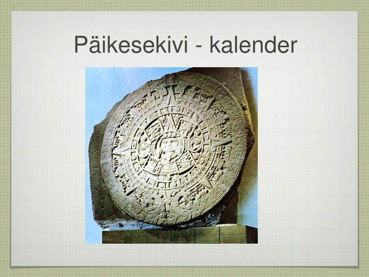 Päikesekivi - kalender