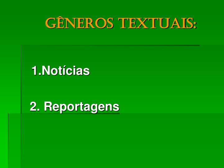 Gêneros textuais: