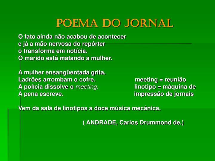 Poema do jornal