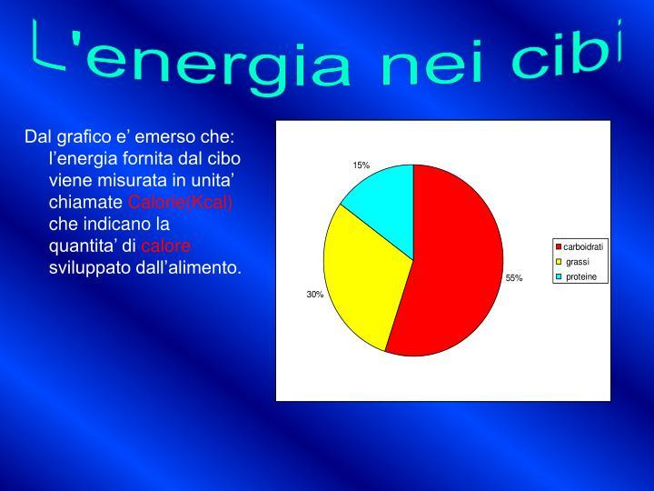 L'energia nei cibi
