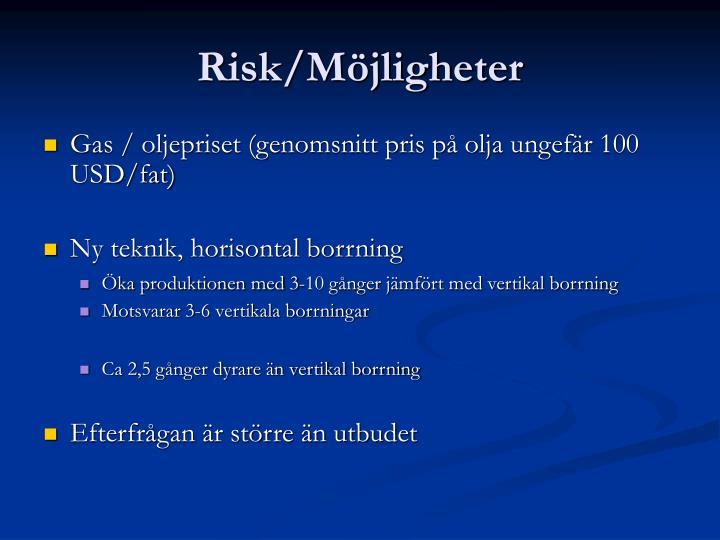 Risk/Möjligheter