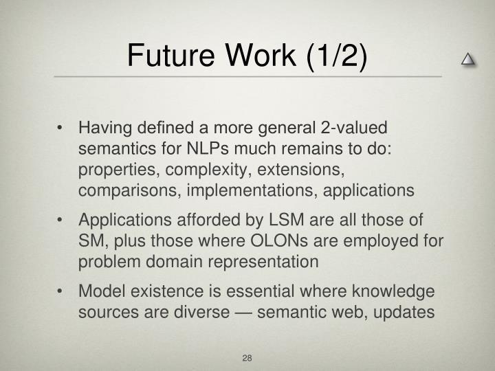 Future Work (1/2)