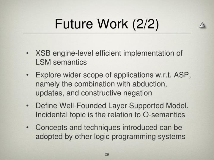 Future Work (2/2)