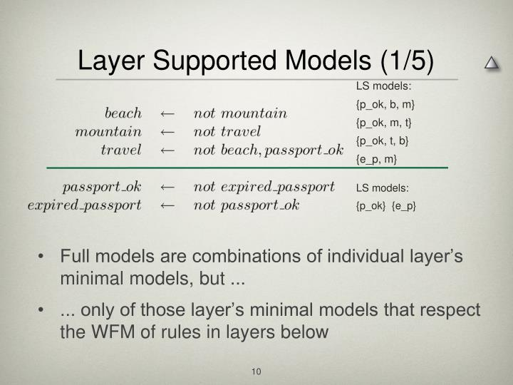 Layer Supported Models (1/5)