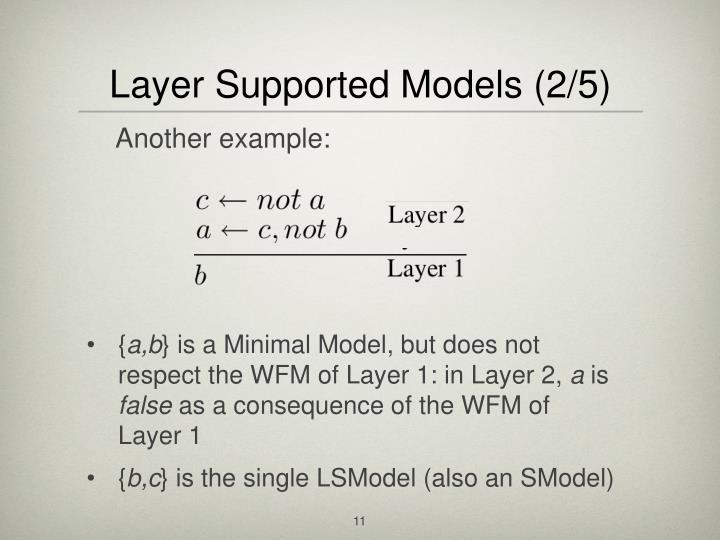 Layer Supported Models (2/5)