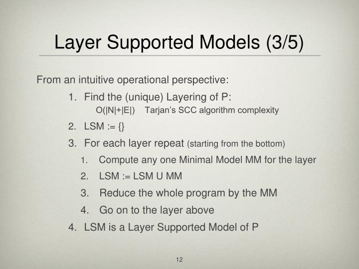 Layer Supported Models (3/5)
