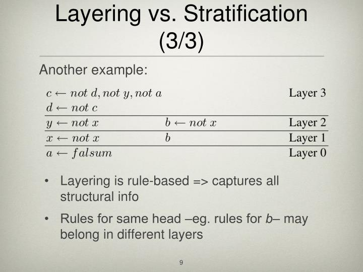 Layering vs. Stratification (3/3)