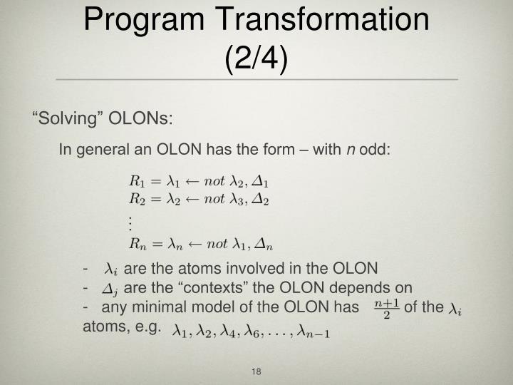 Program Transformation (2/4)