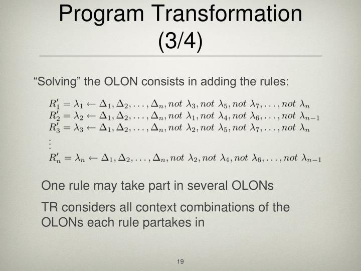 Program Transformation (3/4)