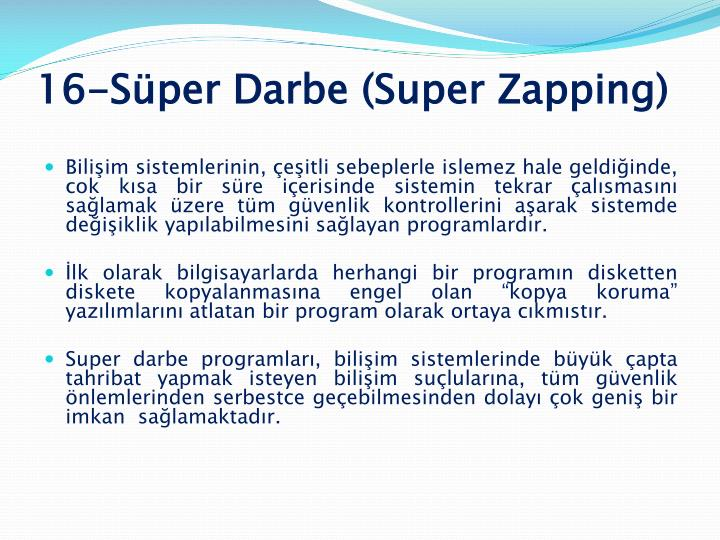 16-Süper Darbe (Super Zapping)