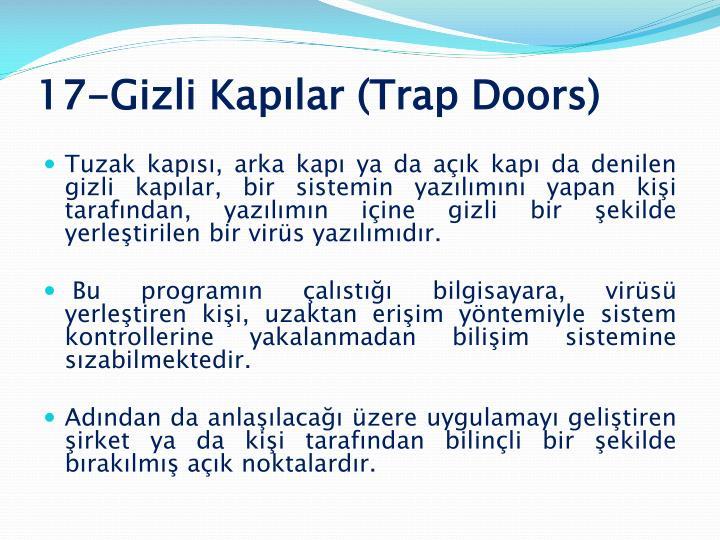 17-Gizli Kapılar (Trap Doors)