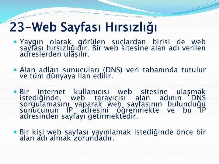 23-Web Sayfası Hırsızlığı