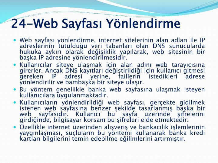 24-Web Sayfası Yönlendirme
