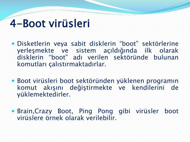 4-Boot virüsleri