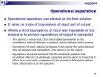 operational separation