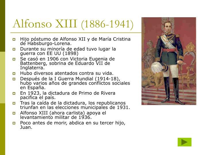 Hijo póstumo de Alfonso XII y de María Cristina de Habsburgo-Lorena.