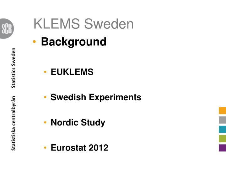 KLEMS Sweden
