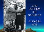 van deprem le sarsildi 24 kasim 1976