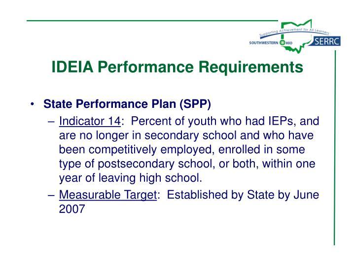 IDEIA Performance Requirements