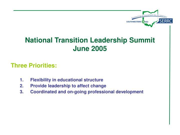 National Transition Leadership Summit