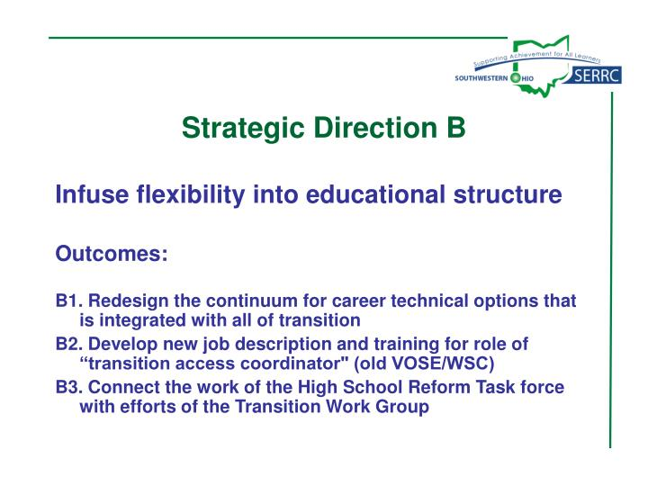 Strategic Direction B