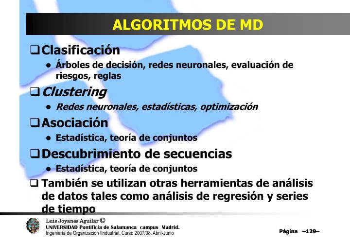 ALGORITMOS DE MD