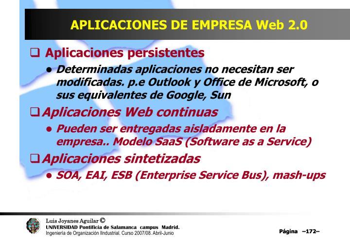 APLICACIONES DE EMPRESA Web 2.0