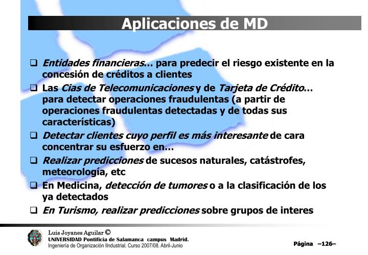 Aplicaciones de MD