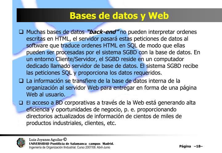 Bases de datos y Web