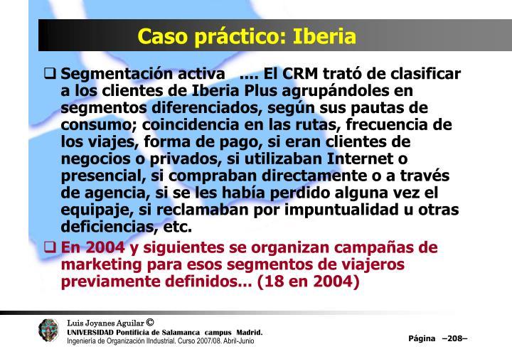 Caso práctico: Iberia