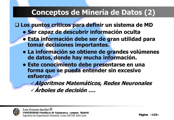 Conceptos de Minería de Datos (2)