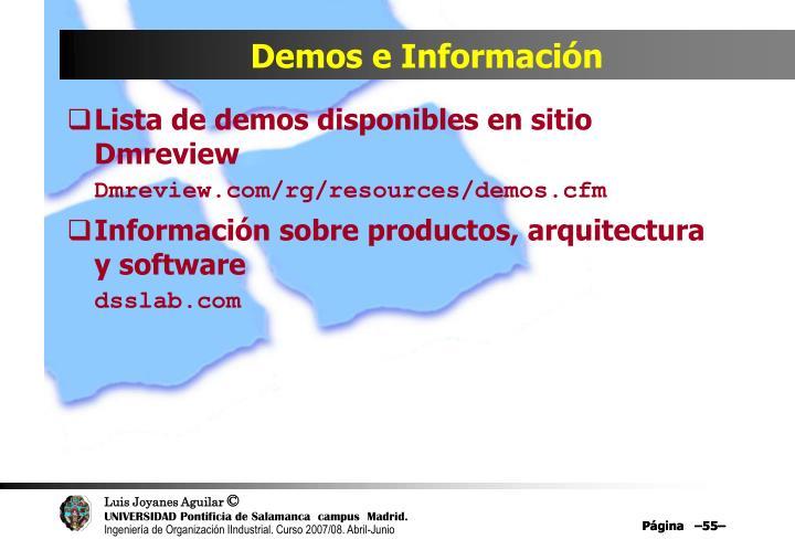 Demos e Información