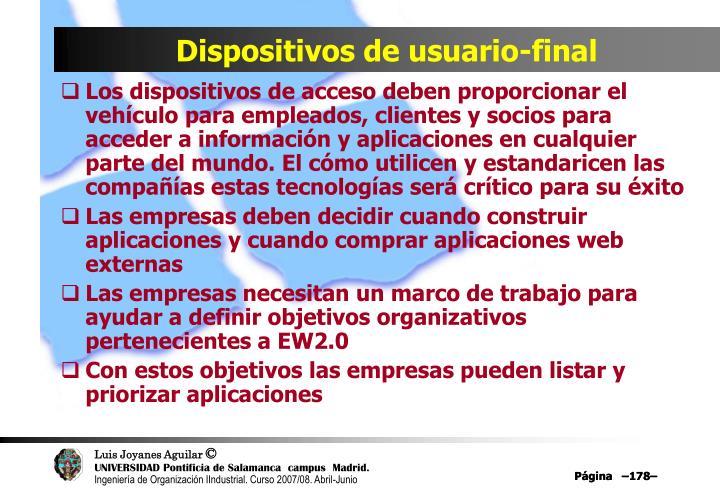 Dispositivos de usuario-final