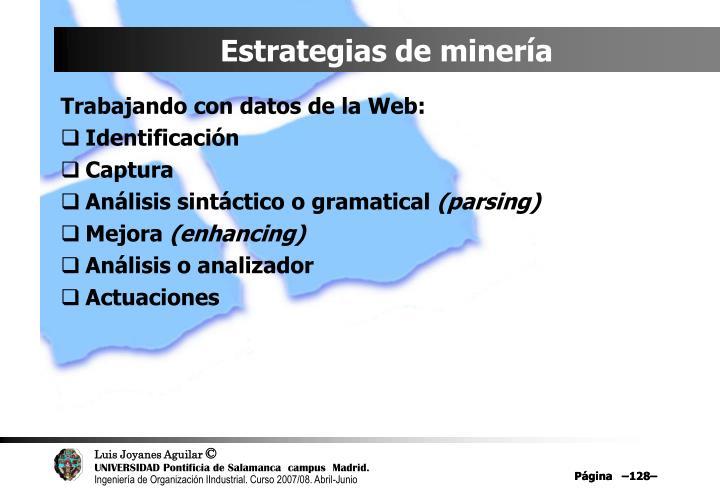 Estrategias de minería