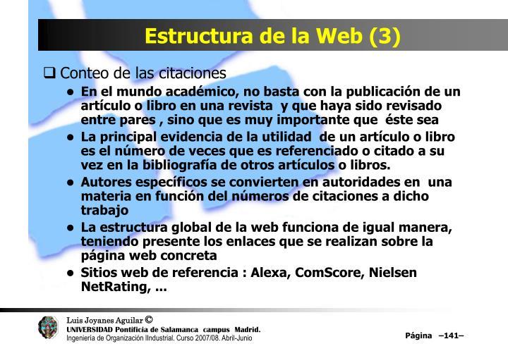 Estructura de la Web (3)