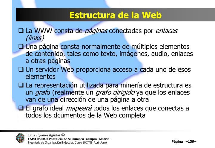 Estructura de la Web