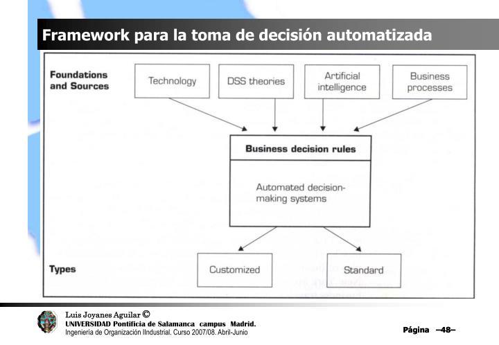 Framework para la toma de decisión automatizada