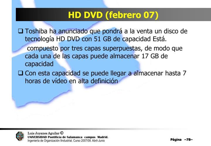 HD DVD (febrero 07)