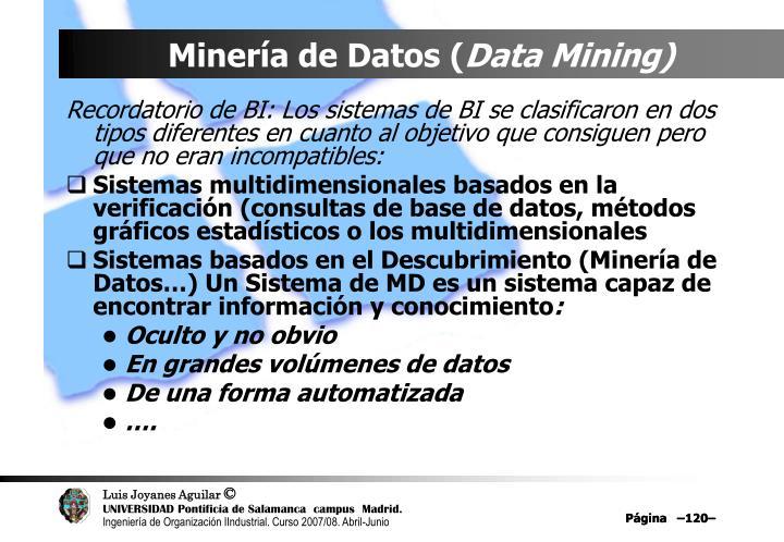 Minería de Datos (